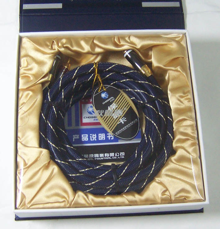 CHOSEAL AB-5409 High Quality Digital Coaxial Cable 4N OFC 1.5M 24K gold-plated RCA to RCA Cable 1.5M not DIY (pair)